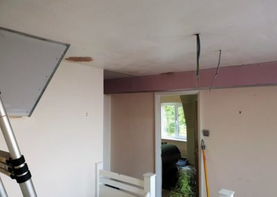 More plasterboard cut and fitted ahead of it being plastered.